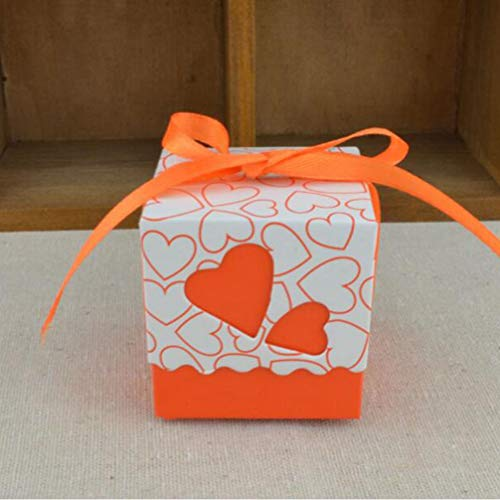 MEIZOKEN 10pcs Love Heart Laser Cut Hollow Gift Candy Boxes Wedding Party Favor Gifts Bags with Ribbon Wedding Birthday Party Supplies