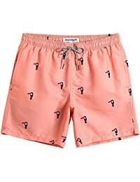 9f4fa59735 Mens Short Swim Trunks Boys Quick Dry Beach Broad Shorts Swim Suit with  Mesh Lining
