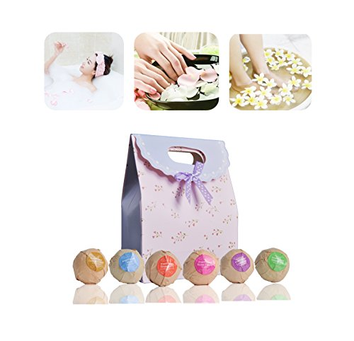 AngelFlipped-Aromatherapy-Spa-Bath-Bomb-Gift-SetLuxury-Handmade-Natural-Organic-Ingredients-Infused-Essential-oils-Vitamin-EBest-for-Relaxation-and-Moisturizing-21-Oz6-PCS