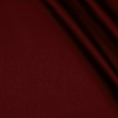 Ben Textiles Stretch L'Amour Satin Burgundy Fabric By The Yard ()