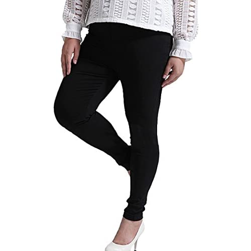 990b6f487d8da lovely LOV ANNY Women's Solid Color Skinny Leggings Plus Size Stretch Pants