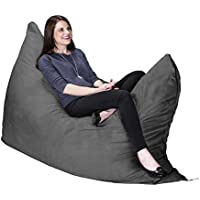 Jaxx Pillow Saxx 5.5-Foot - Huge Bean Bag Floor Pillow and Lounger, Charcoal