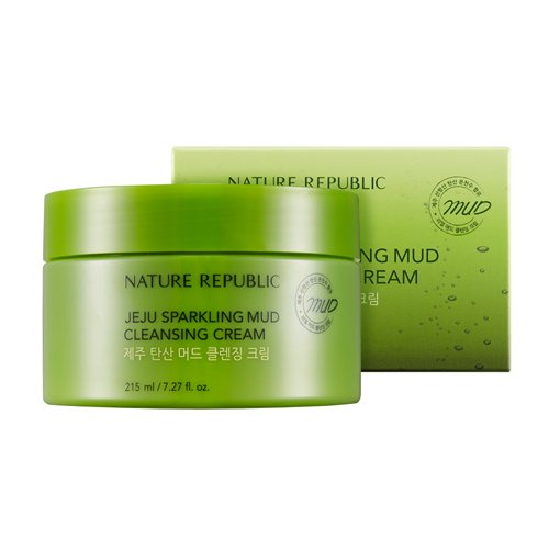 Nature Republic - Jeju Sparkling Mud Cleansing Cream - Cleansers & Exfoliators - Exfoliating & Cleansing Masks