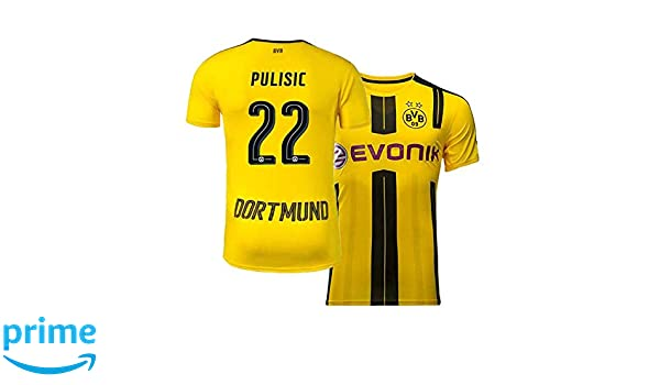 5b726736778 Amazon.com   Mens Pulisic Jersey Borussia Dortmund Christian 22 Adult Home  Soccer   Sports   Outdoors