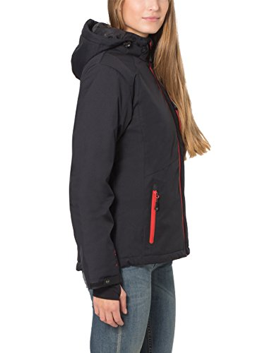 Ultrasport Funzionale all'aperto giacca alpino da donna Softshell Serfaus con Ultraflow 10.000 - Noir/Rouge - XL