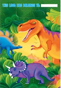 Prehistoric Dinosaurs Treat Bags, 8ct -