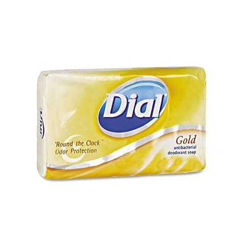 Dial Individually Wrapped Antibacterial Soap, Pleasant, Gold, 4oz Bar, 72/Carton (Dial Bar Gold)