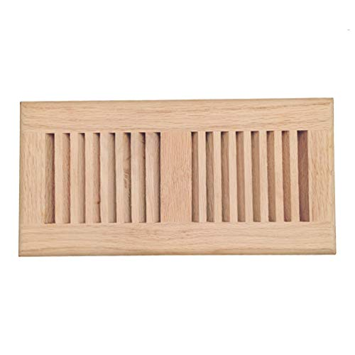 (Red Oak Wood Drop in Floor Register Vent Cover, Surface Mount Vent, 4x10 Inch (Duct Opening), 3/4 Inch Thickness, Unfinished)