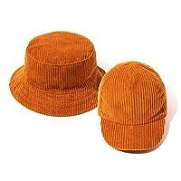 accsa Baby Boy Classic Vintage 2 Pack Bucket Hat & Baseball Cap Set Brown