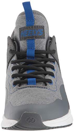 Heelys Boys' Piper Tennis Shoe Grey Heathered/Royal 8 M US Big Kid by Heelys (Image #4)