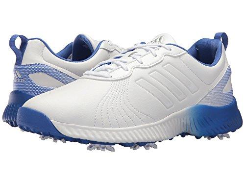 電信優越すき(アディダス) adidas レディースゴルフシューズ?靴 Response Bounce Footwear White/Footwear White/Hi-Res Blue 10 (27cm) M