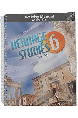 BJU Press Heritage Studies 6 Student Activity Manual Answer Key, 3rd Edition, Grade 6