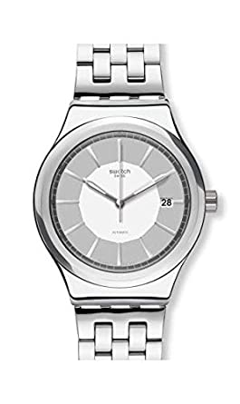 Swatch Sistem Casual YIS421G Silver Stainless-Steel Swiss Automatic Fashion Watch