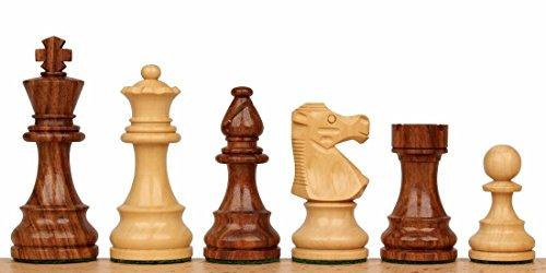 French Lardy Staunton Chess Set in Acacia & Boxwood - 3.75 King