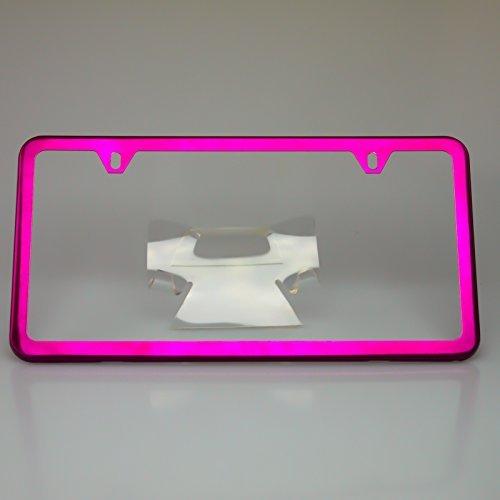 neon light license plate frame - 9