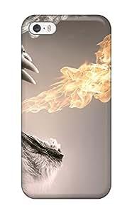 New Roaring Flames Tpu Case Cover, Anti-scratch Phone Case For Iphone 5/5s