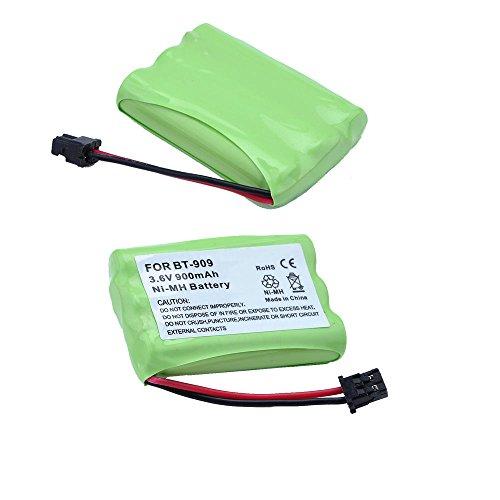 2 x NI-MH Home Cordless Phone Battery for Uniden BT909 BT-909 BT1001 BT-1001 BT1004 BT-1004 DC-T646 BBTY0483001 3.6V 900mAh