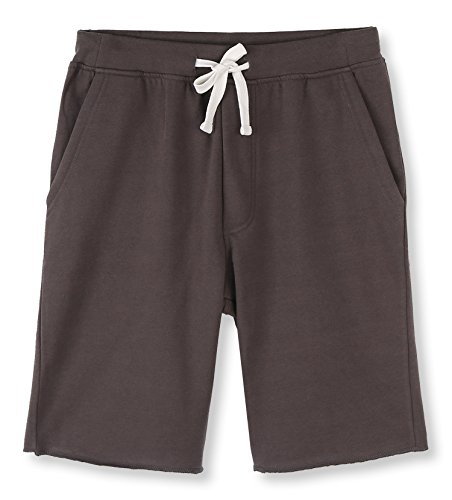 HETHCODE Men's Casual Classic Fit Cotton Elastic Fleece Jogger Gym Shorts Charcoal S ()