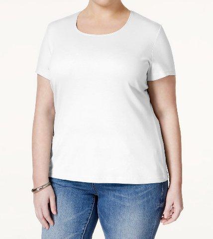 Karen Scott Plus Size T-Shirt (1X-large)