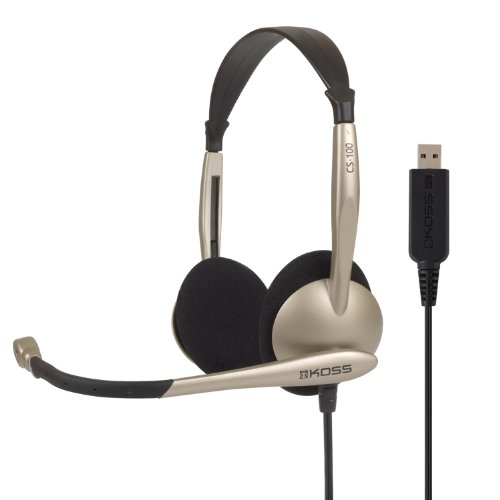Comm Headset W/ Mic Usb 8ft Vol Noise Reduction Foam Ear Cushions from Koss