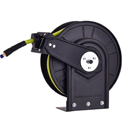 """Hermes2shop 3/8"""" X 50' Retractable Air Compressor Hose Reel 300PSI Auto Rewind"""