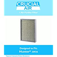 Hunter 30936 Air Purifier Filter Fits 30085, 30090, 30095, 30105, 30117 & 30130, Designed & Engineered by Crucial Air