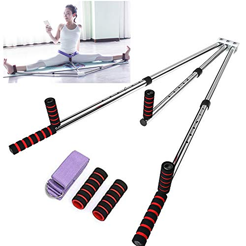 Yi Xuan 3 Bar Leg Stretcher Heavy Duty Gymnastic Portable Flexibility Stretching Machine Stretch Strength Training Leg Machines Yoga Exercise Gym (Best Leg Stretching Machine)