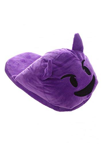 Emoticon Diavoletto Pantofole Emoji Dietro Viola Aperte UR8w5q1