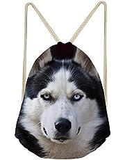 Trendy generous super cute Travel Outdoor Sports Yoga Gympack Cute Husky Drawstring Bags,Colour Name:husky-6 (Color : Husky-3)