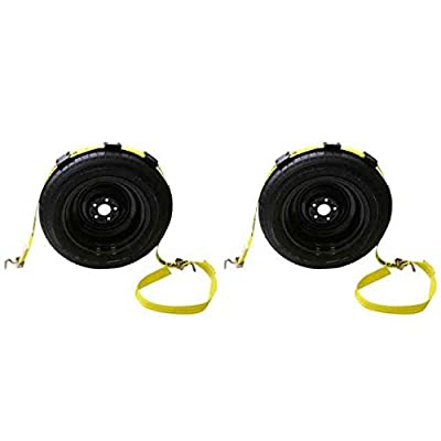 "2"" x 10' OEM Replacement Wheel Strap w/ two 90 degree Swivel J Hooks - 2 Pack"