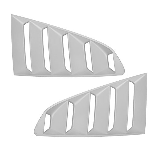 For Ford Mustang 15 GT Side Window Scoop Louver Unpainted Primer ()