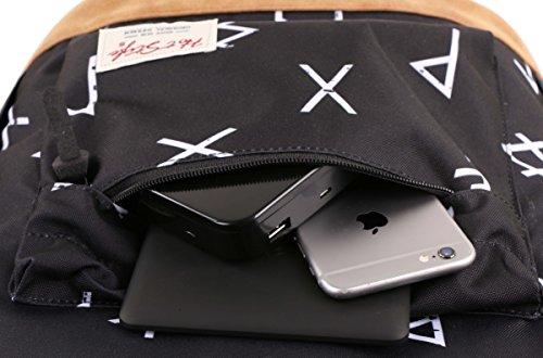 "936Plus College School Backpack Travel Rucksack | Fits 15.6"" Laptop | 18""x12""x6"" | Ethnic"