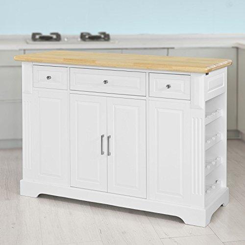 SoBuy® Luxus-Küchenwagen, Küchenschrank, Servierwagen