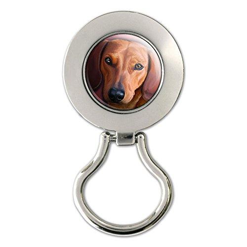 Dachshund - Weiner Dog Pet Magnetic Metal Eyeglass Badge - Dachshund Eyeglass Holder