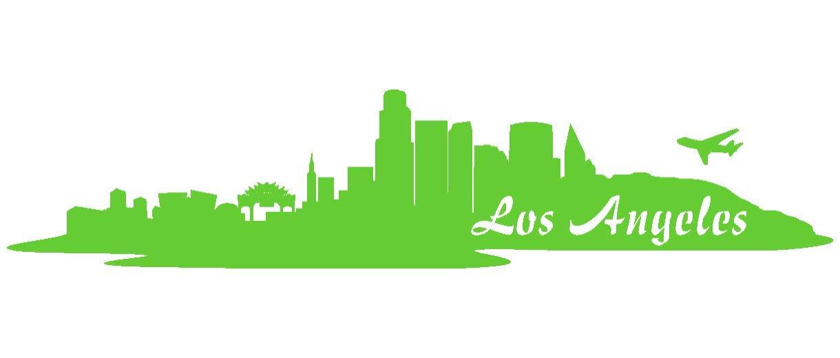 Samunshi® Aufkleber Los Angeles Skyline Autoaufkleber LA in 9 Größen und 25 Farben (180x39cm kupfermetalleffekt) B009EQ3AZS | Deutschland Frankfurt