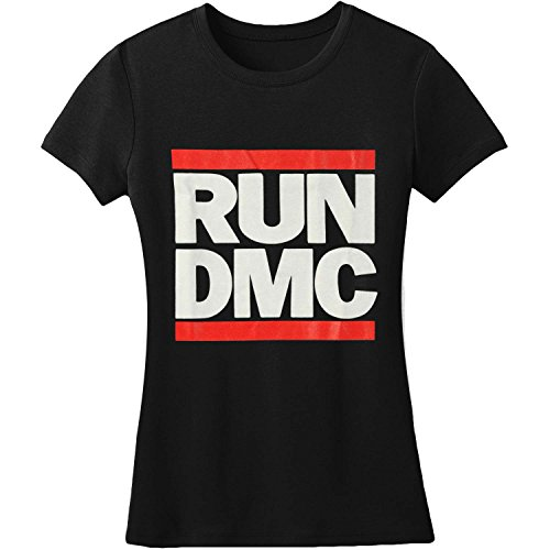 Run-DMC Classic Logo Ladies T-shirt - Black (X-Large)