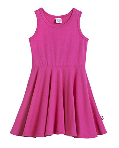 (City Threads Big Girls' Cotton Party Twirly Tank Dress - Sensitive Skin and Sensory Friendly - School Summer, Hot Pink, Size 14)