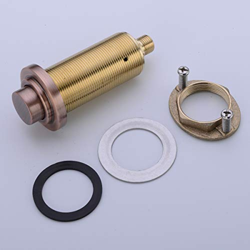 SINKINGDOM SinkTop Air Switch Kit (Full Brass) for Disposal, Dual Outlet, (Antique Copper) by SINKINGDOM (Image #3)