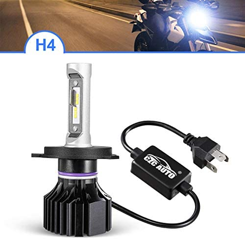 CZC AUTO H4 9003 HB2 オートバイLEDヘッドライト電球 ハイビーム ロービーム クイックインストールLEDヘッドランプ 6000K 明るいホワイト H4 LED電球 防水 9003 LEDヘッドライト 10000LM 超高輝度 HB2 LEDヘッドライト