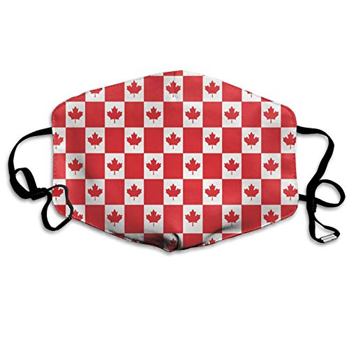 Fashion Outdoor Mouth Mask, Face Masks with Design, Canadian Flag Unisex Flu Dust Masks Reusable, Adjustable Ear Loops Breathable Mask for Outdoor Cycling Earloop Masks Pollen Germs Allergens Masks ()