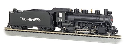 Flying Rio Grande - Bachmann Industries Trains Prairie 2-6-2 With Smoke & Tender Rio Grande #74 (Flying Grande) Ho Scale Steam Locomotive