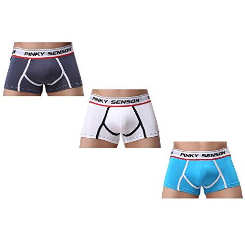 cool nik Men's Underwear,Men's 3 Pack Ultra Soft and Fiber Boxer Briefs XL