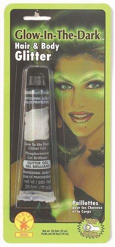 (Rubies Glow in the Dark Hair and Body Glitter-green)