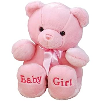 Amazon Com Aurora World Plush Pink Comfy Baby Girl Bear 18 Toys