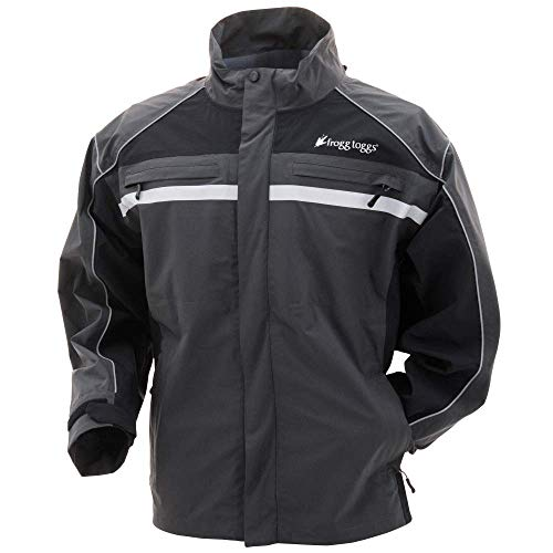 - Frogg Toggs Pilot II Illuminator Jacket, Black/Charcoal Gray, Size Large