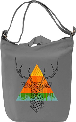 Triangle Deer Borsa Giornaliera Canvas Canvas Day Bag| 100% Premium Cotton Canvas| DTG Printing|