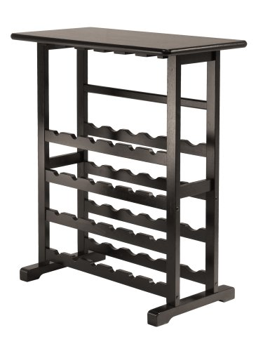Winsome Vinny Wine Rack, 24 Bottle with Glass Hanger (Wine 24 Glasses)