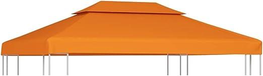 vidaXL Toldo de Cenador Repuesto Tela Impermeable Terracota 3x4m Techo Pérgola: Amazon.es: Hogar