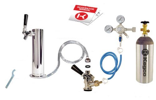 - Kegco BF STCK-5T Standard Tower Kegerator Conversion Kit with 5 lb Co2 Tank, Standard