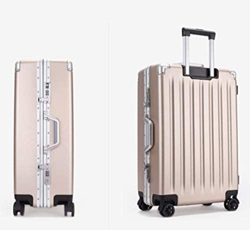 Color : Gold, Size : 29 GaoMiTA ABS+PC Suitcase 21 inch Boarding Universal Wheel Trolley Travel Zipper Box